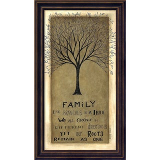 Framed Art Print 'Family Tree' by Cindy Shamp 9 x 16-inch