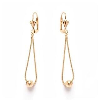 18k Goldplated Teardrop and Ball Drop Earrings