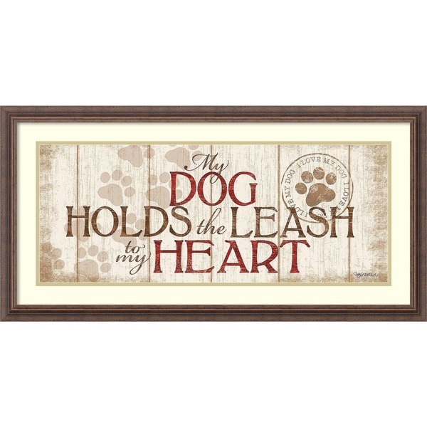 Framed Art Print 'My Dogs' by Kathy Middlebrook 36 x 18-inch