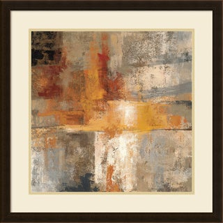 Framed Art Print 'Silver and Amber Crop' by Silvia Vassileva 26 x 26-inch