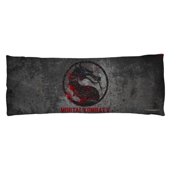 Mortal Kombat X/Stone Logo Plush Fleece Body Pillow