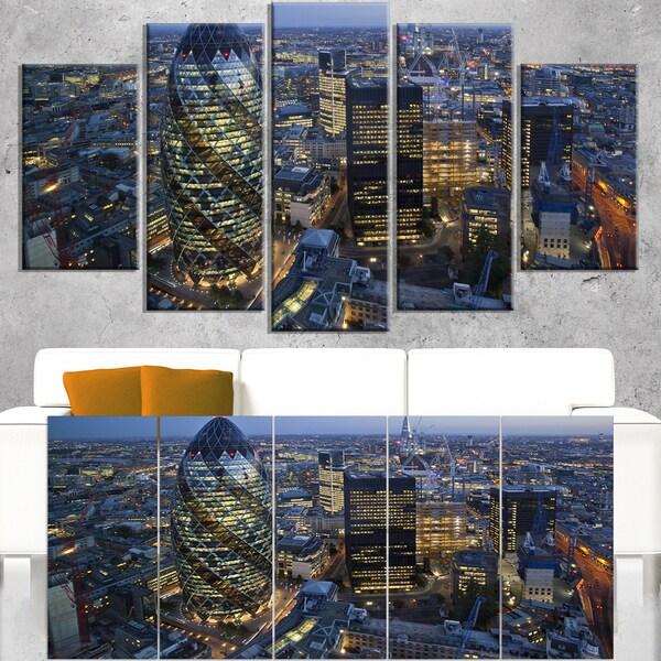 London Skyline at Sunset - Cityscape Canvas print