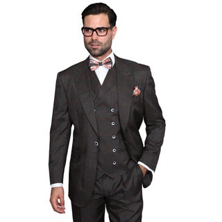 Sorento Men's Rust Wool Statement Suit