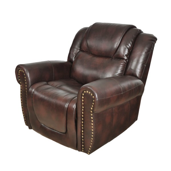 Brighton Rocking Reclining Chair Brown