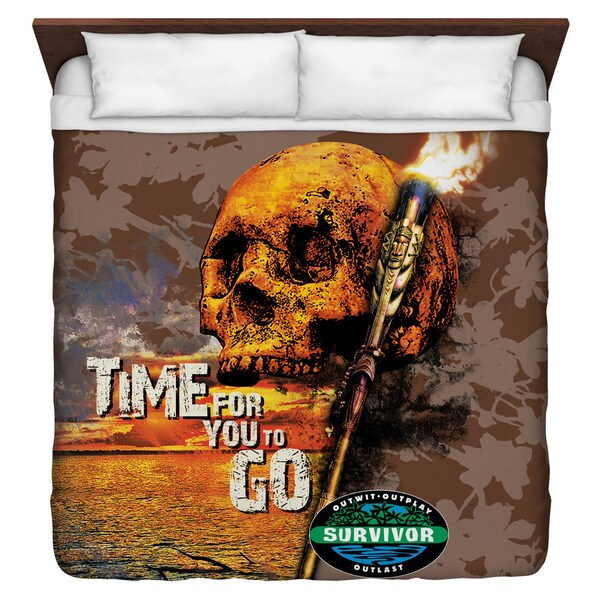 Survivor/Time To Go Duvet Cover