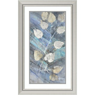 Framed Art Print 'Silver Leaves II' by Albena Hristova 20 x 32-inch