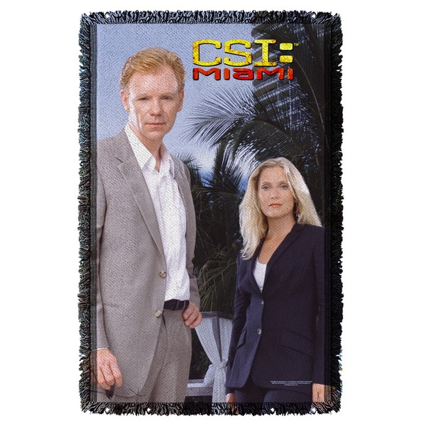 Csi Miami/Blue Sky Graphic Woven Throw