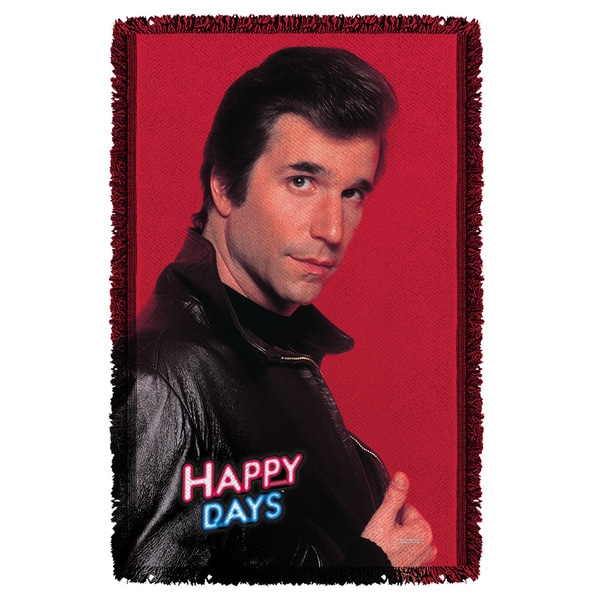 Happy Days/Red Fonz Graphic Woven Throw