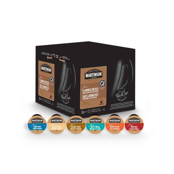 Martinson Coffee Variety Flavoured Pack, RealCup Portion Pack For Keurig Brewers