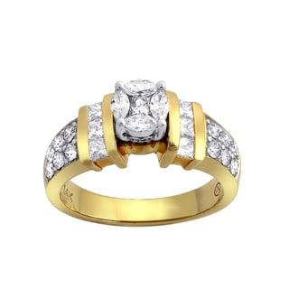 Beverly Hills Charm 14k Yellow Gold 1 1/4ct TDW Engagement Ring (SI2-I1, H-I)