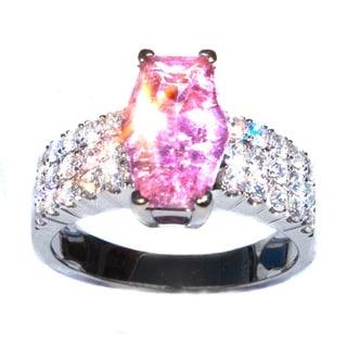 California Girl Jewelry Pink Tourmaline & Diamond 18k Ring