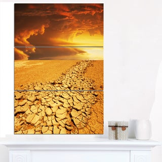 Drought Land under Dramatic Sky - Modern Landscape Wall Art Canvas