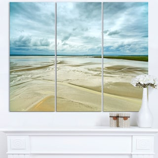 Low Tide in Mont Saint Normandy - Oversized Landscape Wall Art Print