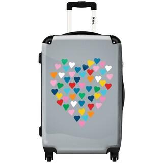 iKase 'Hearts Heart Grey' 24-inch Fashion Hardside Spinner Suitcase