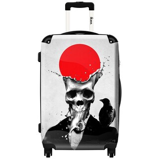 iKase 'Splash Skull' 24-inch Fashion Hardside Spinner Suitcase