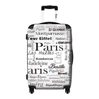 iKase 'Oh la la Paris White City Background' 24-inch Fashion Hardside Spinner Suitcase