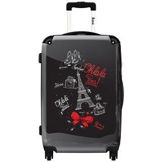 iKase 'Oh la la Paris Eiffel Tower' 24-inch Fashion Hardside Spinner Suitcase