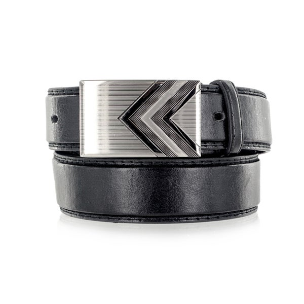 Faddism Men's Genuine Leather Double Arrow Belt