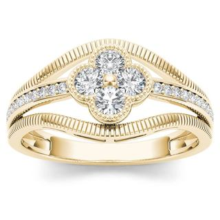 De Couer 10k Yellow Gold 1/3ct TDW Diamond Fashion Ring (H-I,I2)