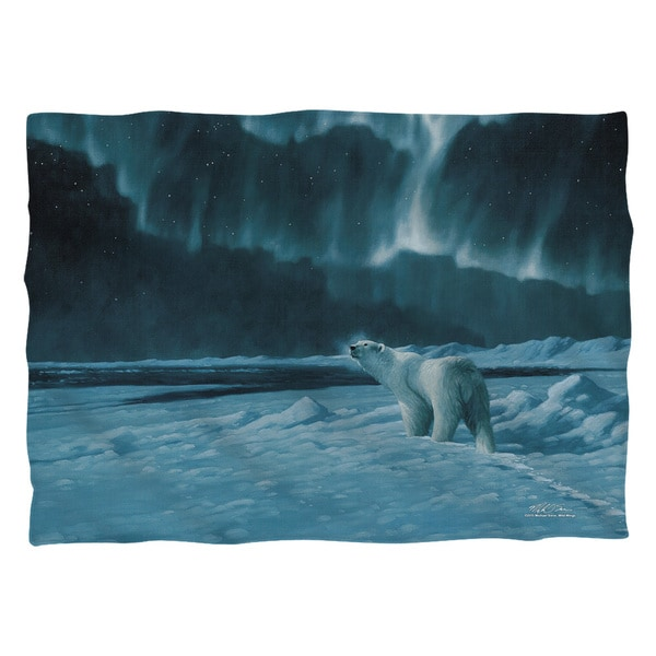 Wild Wings/Polar Night Light 2 Polyester 20x28 Pillowcase 19671052