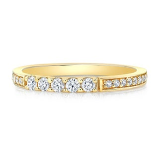 14k Yellow or Rose Gold 1/3ct TDW Diamond Stackable Band Size 7 (H-I, SI1-SI2)