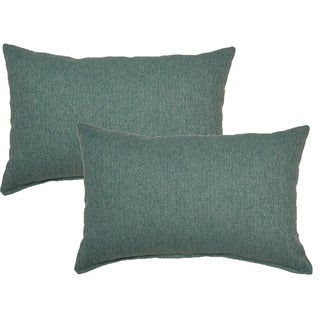 Grandstand Turquoise 12in Throw Pillows (Set of 2)