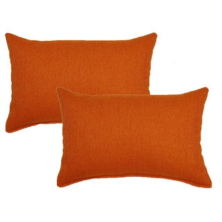 Grandstand Orange 12in Throw Pillows (Set of 2)