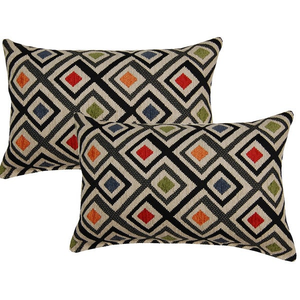 Perfection Graphite 12in Throw Pillows (Set of 2)