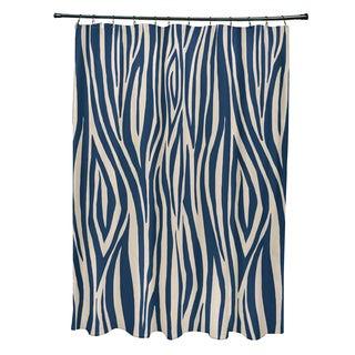 71 x 74-inch Wood Stripe Geometric Print Shower Curtain