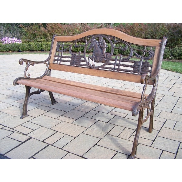Oakland Living Corporation Horse Bench