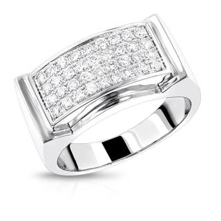 Luxurman 14k Gold Mens Diamond Gold Ring 7/8ct Wedding Band (G-H; VS1-VS2)