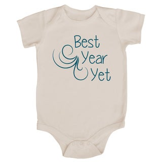Rocket Bug 'Best Year Yet' Cotton Baby Bodysuit
