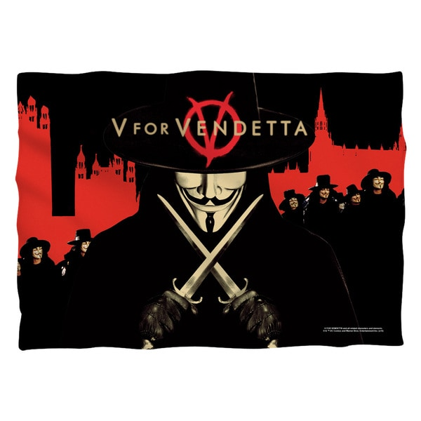 V For Vendetta/V (Front/Back Print) Pillowcase