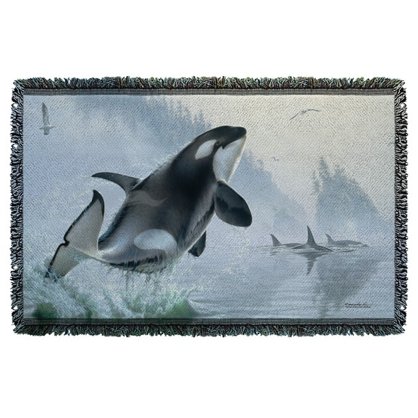 Wild Wings/Teeming Waters 2 Graphic Woven Throw 19675634