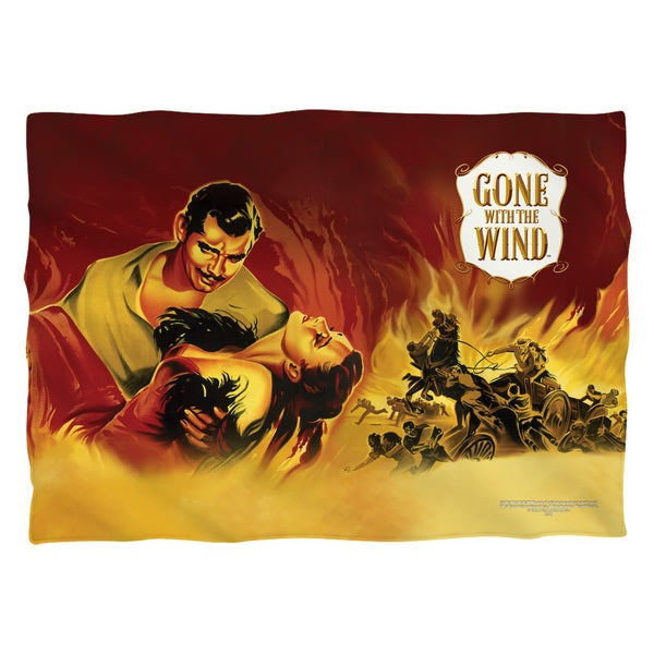Gone With The Wind/Fire Poster (Front/Back Print) Pillowcase