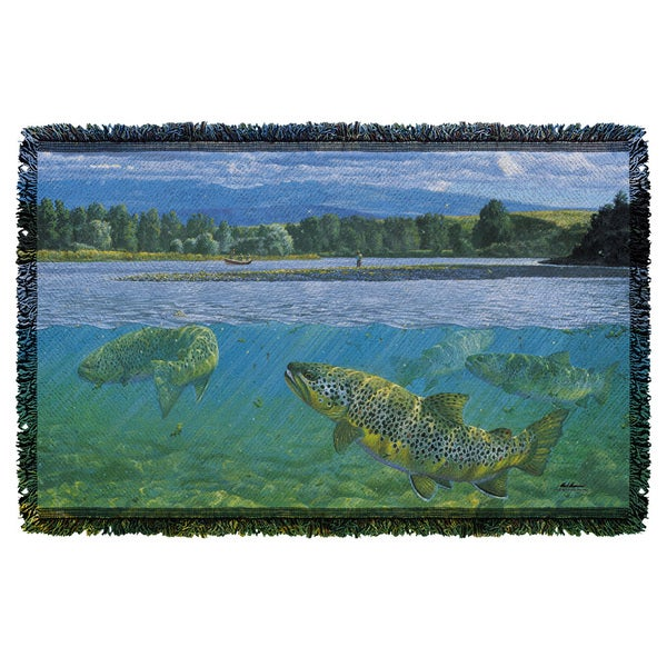 Wild Wings/Bighorn River 2 Graphic Woven Throw 19675682