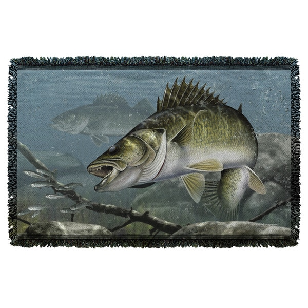 Wild Wings/Feeding Frounds 2 Graphic Woven Throw 19675690