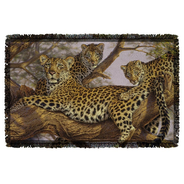 Wild Wings/Family Tree 2 Graphic Woven Throw 19675707