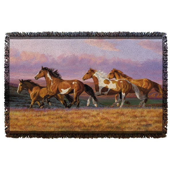 Wild Wings/Sunset Cruise 2 Graphic Woven Throw 19675731