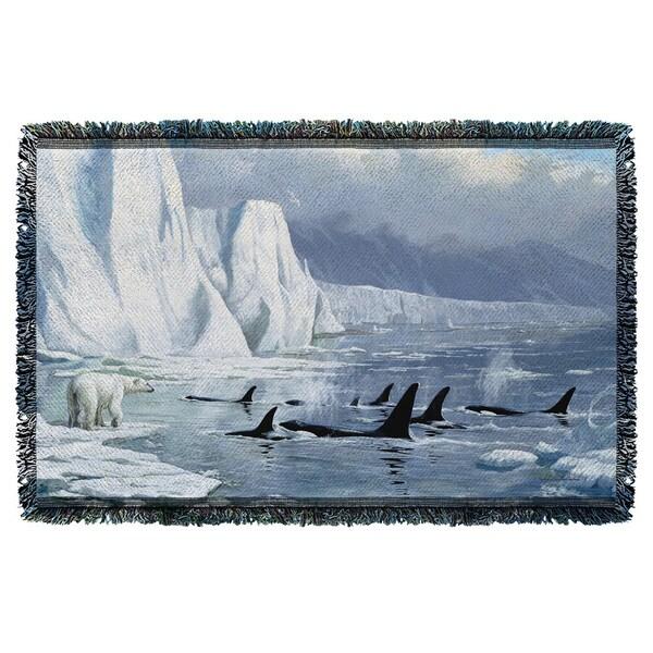 Wild Wings/Glacier'S Edge 2 Graphic Woven Throw 19675760
