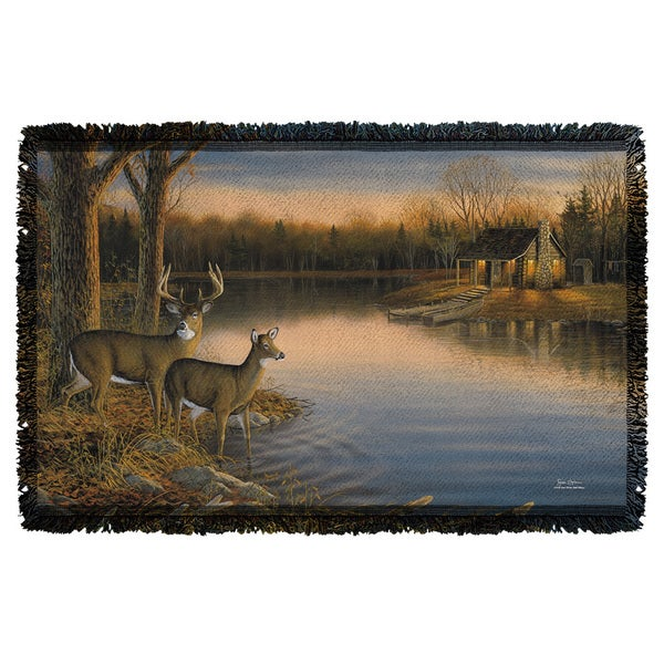 Wild Wings/Tranquil Evening 2 Graphic Woven Throw 19675766