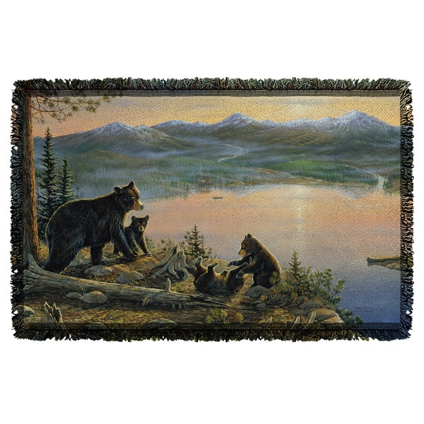 Wild Wings/Serenity At Twilight 2 Graphic Woven Throw 19675787