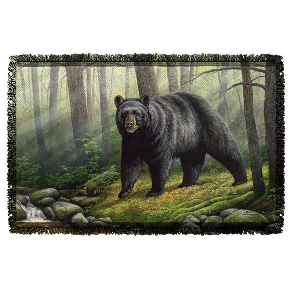 Wild Wings/Woodland Morning 2 Graphic Woven Throw 19675812