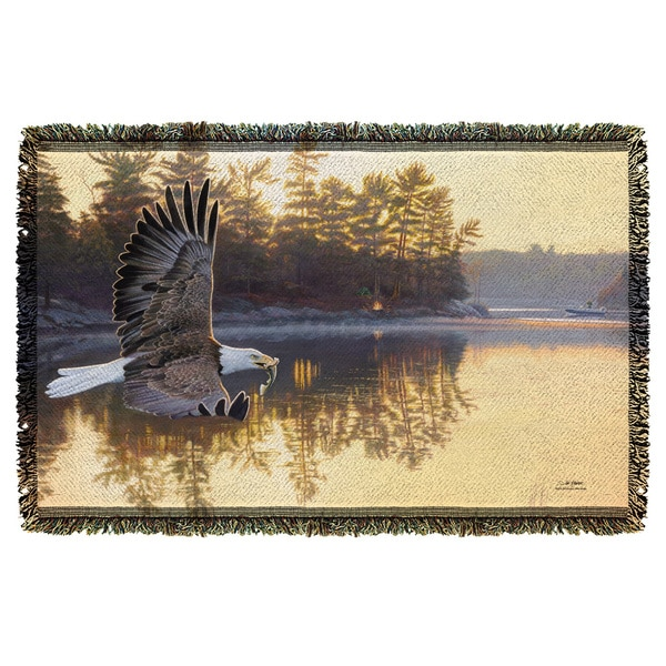 Wild Wings/Gone Fishing 2 Graphic Woven Throw 19675861
