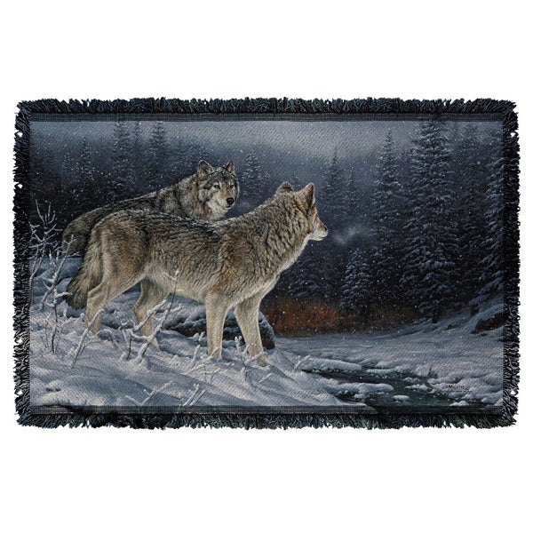 Wild Wings/Twilight Hunters 2 Graphic Woven Throw 19675884