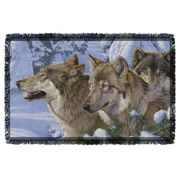 Wild Wings/Winter'S Warmth 2 Graphic Woven Throw 19675895