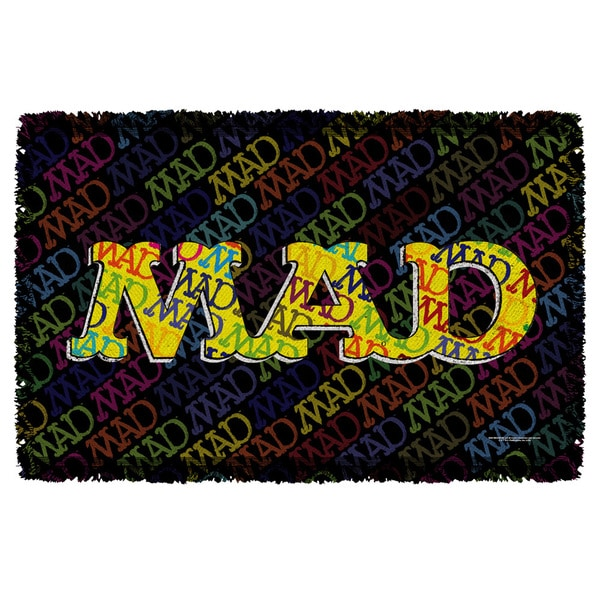 Mad/So Much Mad Graphic Woven Throw