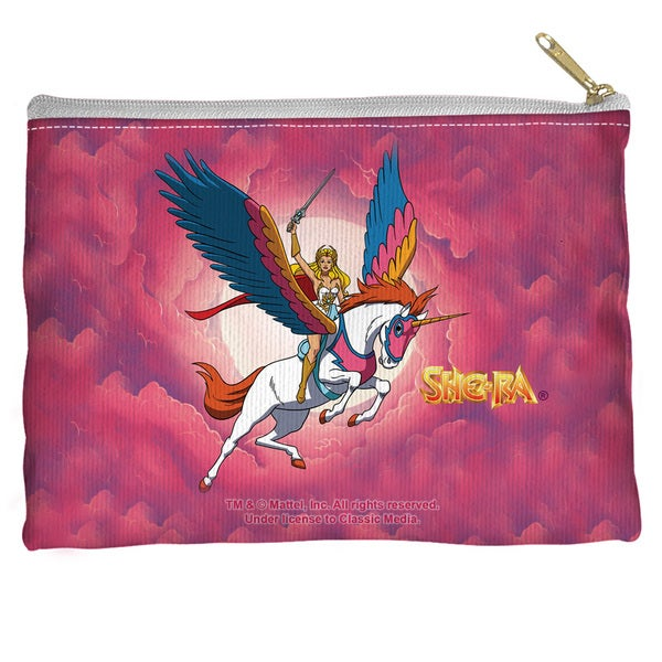 She Ra/Clouds Spun Polyester Accessory Pouch