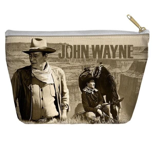 John Wayne/Stoic Cowboy Spun Polyester Accessory Pouch