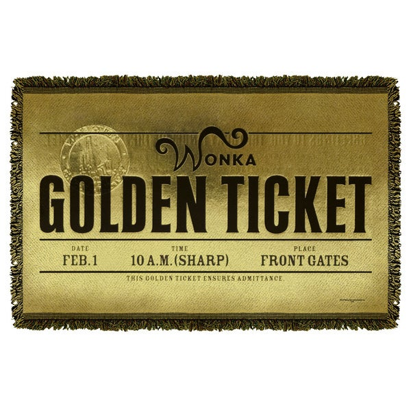 Charlie And The Chocolate Factory/Golden Ticket Graphic Woven Throw
